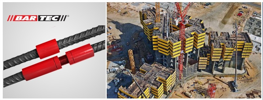 Rebar couplers for the world's highest tower