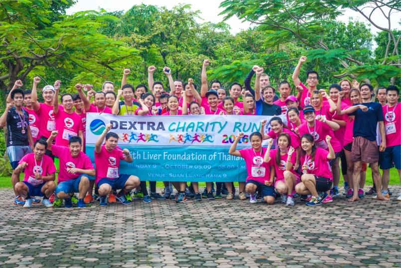 Charity - 67 runners from Dextra's Bangkok in Rama IX Park