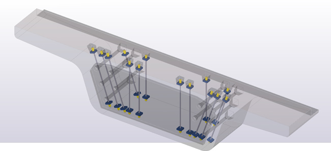 Reinforcing highway girders with post tensioning bar systems